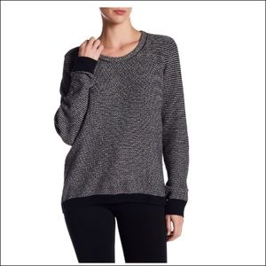 Madewell Riverside Dotweave Pullover Sweater XS